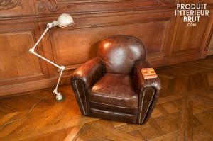Emblématique du caractère durable du « vintage », le fauteuil club