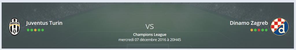Quel est votre Pronostic Juventus Turin Dinamo Zagreb Ligue des Champions ?